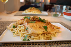 Egg Batter Pan Fried Flounder with Green Garlic