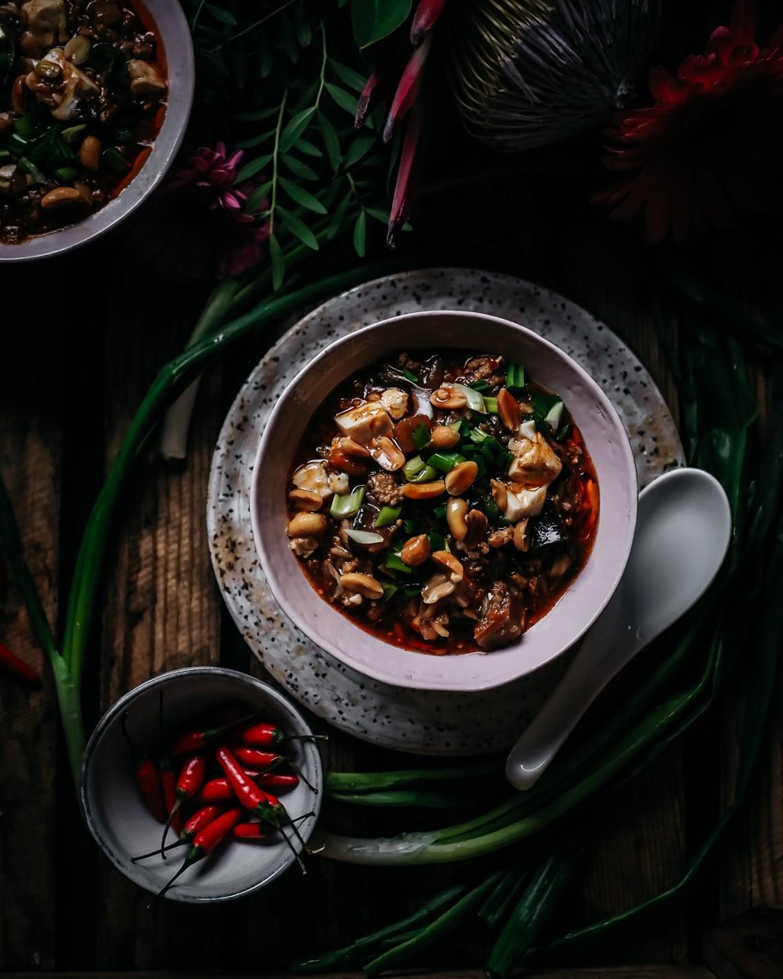 vegaaninen mapo tofu