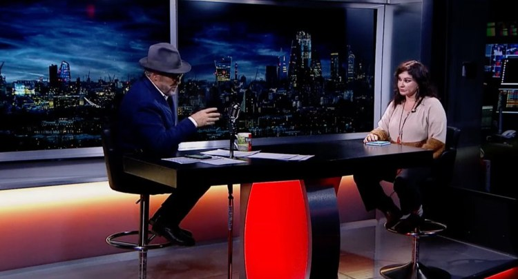 Natacha Atlas talking with George Galloway - The Mother Of All Talkshows - Episode 21