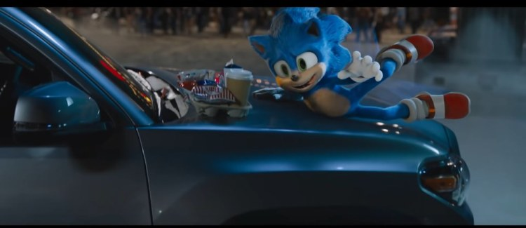 sonic the hedgehog movie redesign trailer 2 cute adorable tongue