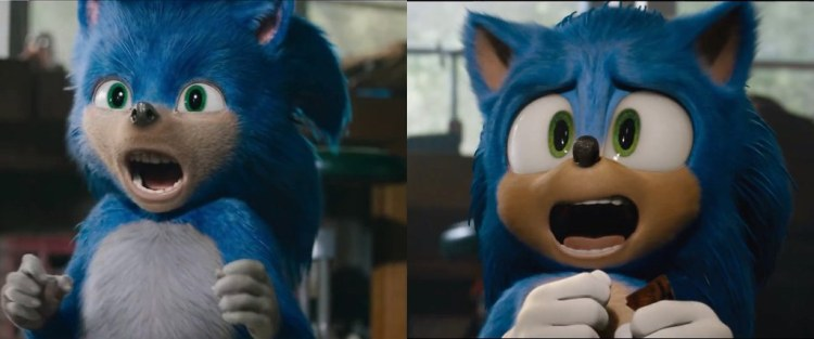 sonic the hedgehog movie redesign teeth comparison trailer 2