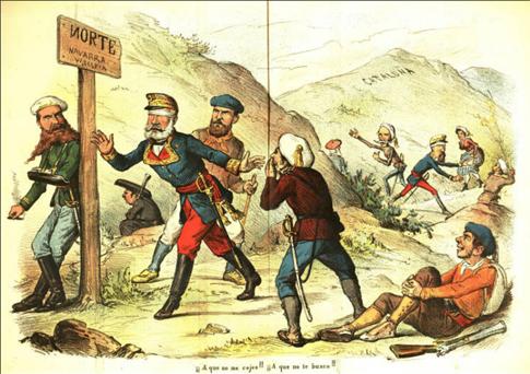 La Flaca número 69 2 junio de 1873 Isabelinos y carlistas que buscan el norte Uti 485