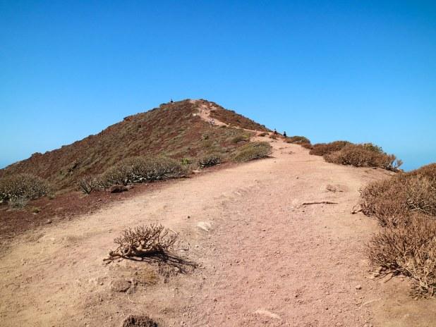 Sendero hacia el punto más alto de Montaña Roja