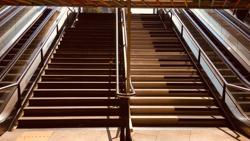 Rotterdam Daily Photo: Rotterdam Centraal stairs going up and down