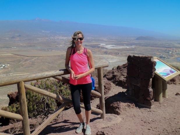 Vista desde la cima del volcan Montaña Roja