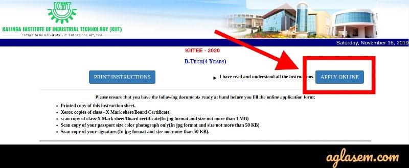 KIITEE 2021 apply online