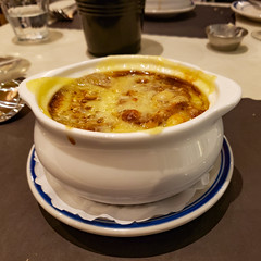Onion Soup Gratinée at Gabi