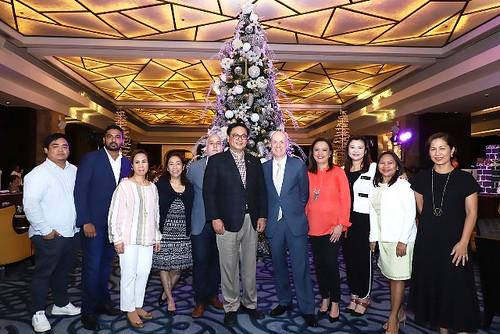 Christmas Tree Lighting led by GM Gerhard Doll with Chroma Executives and CSR Partners Crimson Hotel