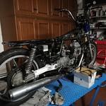 Moto Guzzi V50 smontata
