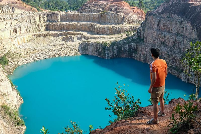 the blue lake at kangkar pulai in johor