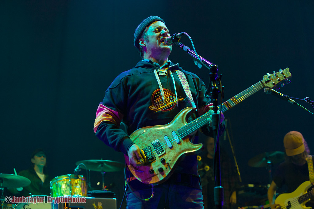 American musician Isaac Brock of rock band Modest Mouse performing at Rogers Arena in Vancouver, BC on November 24th 2019 © Jamie Taylor