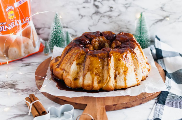 Make your holiday mornings even sweeter with this make ahead Gingerbread Monkey Bread. Prepare the night before and bake Christmas morning. It's filled with so much holiday flavor.