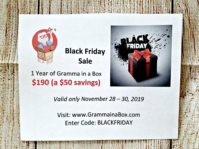 Black Friday Gramma In A Box Deal & November Unboxing! @SMGurusNetwork #GrammaInABox #MySillyLittleGang #subscriptionbox #HGG19