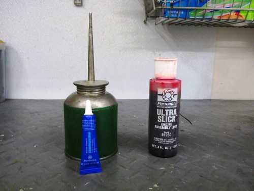 Oil, Engine Lube and Blue Loctite For Assembling Oil Pump