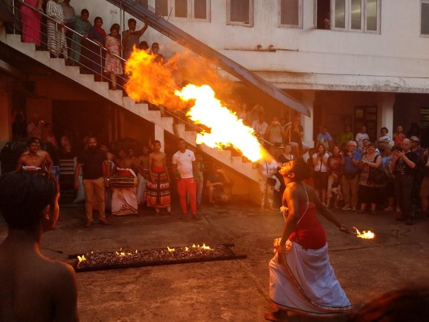 Fire Breathing in Kandy