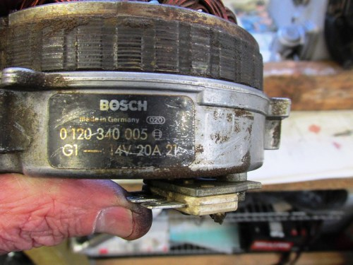 "Bosch Alternator Model-""005"" Is 280 Watt with 107 mm Steel Sleeve"