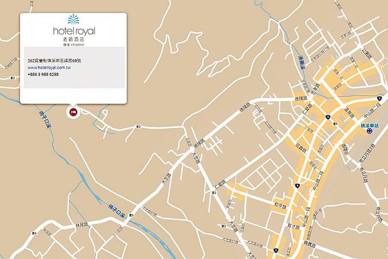 Hotel Royal Chiao Hsi Map