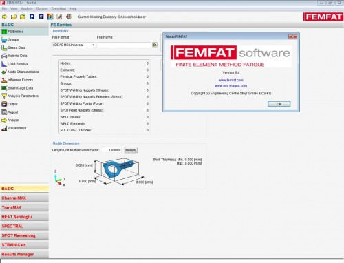 Working with ECS FEMFAT 5.4 win64 full license
