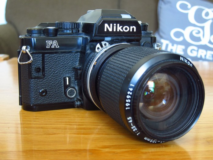 Nikon FA with 35-70 Zoom Nikkor