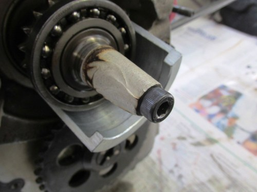 Clam Shell Half Narrow Shoulder Goes Behind Crankshaft Timing Sprocket