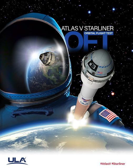 Atlas V Starliner OFT ULA Mission Artwork