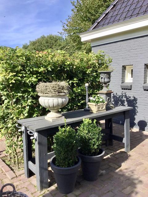 Tafel stylen landelijke tuin