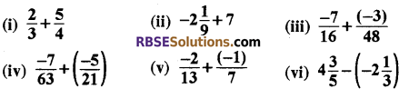RBSE Solutions for Class 8 Maths Chapter 1 परिमेय संख्याएँ Ex 1.1 q2