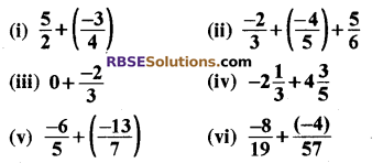 RBSE Solutions for Class 8 Maths Chapter 1 परिमेय संख्याएँ Ex 1.1 q1