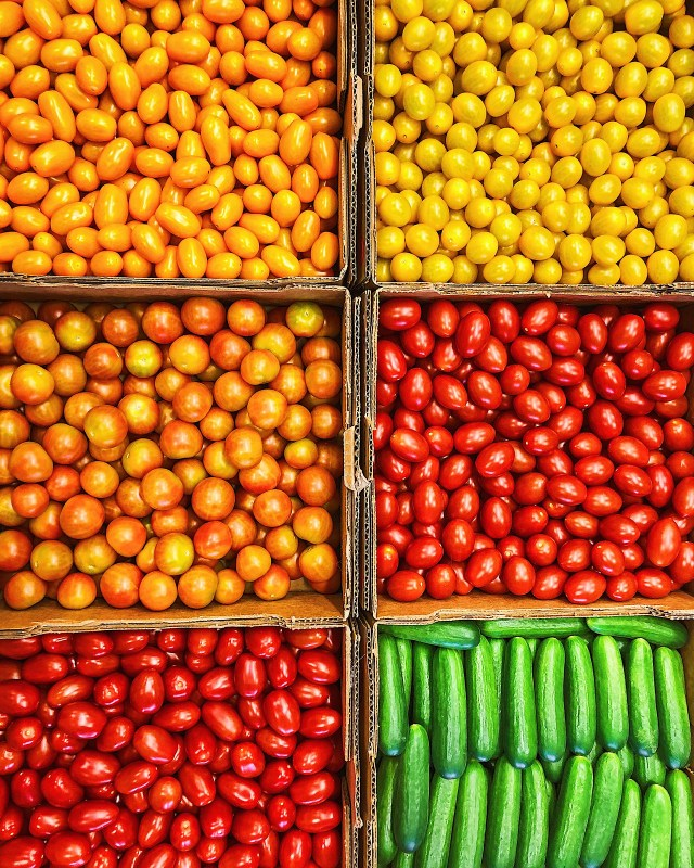 a rainbow of fresh produce