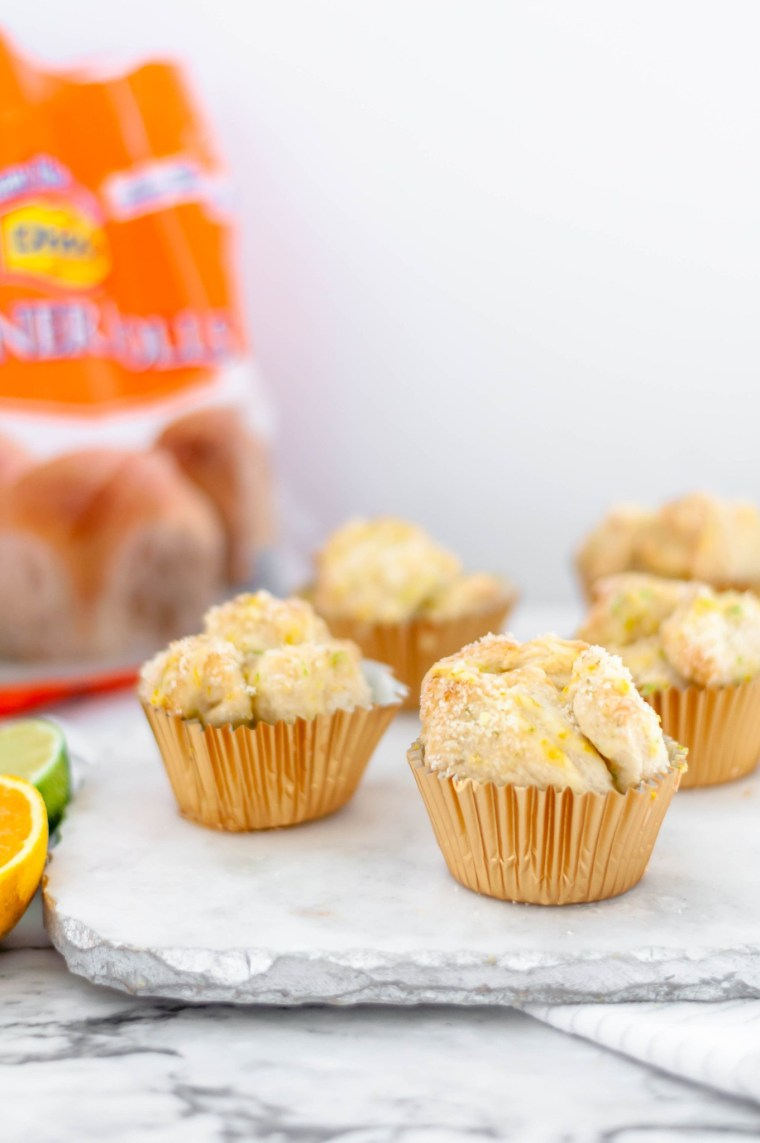Included in the top recipes of 2019 is these citrus monkey bread muffins featuring Rhodes bread dough.
