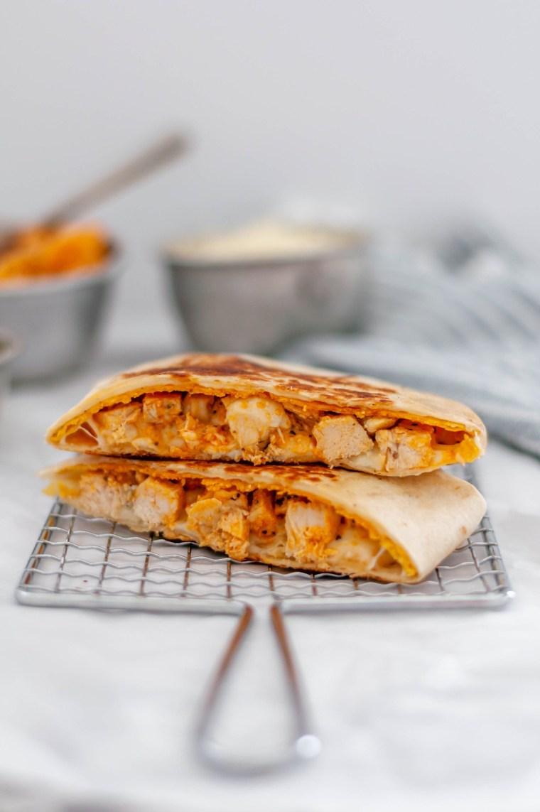 These buffalo chicken crunch wraps are simple to make and packed with flavor. A fun dinner for any night.
