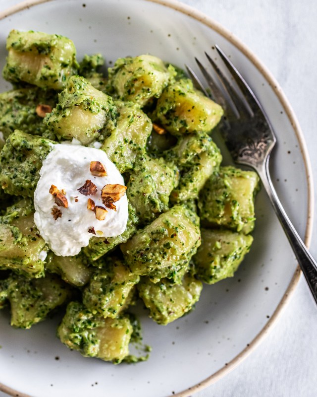 gnocchi with winter pesto