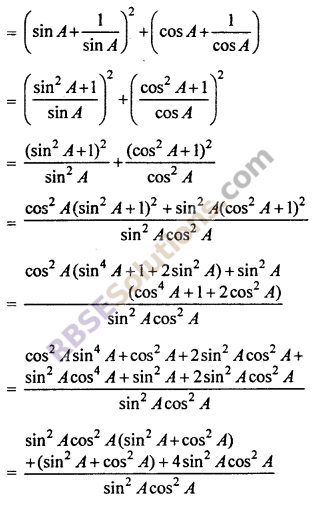 RBSE Solutions for Class 10 Maths Chapter 7 Trigonometric Identities Ex 7.1 25