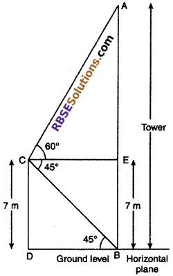 RBSE Solutions for Class 10 Maths Chapter 8 Height and Distance Miscellaneous Exercise 28