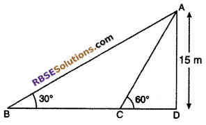 RBSE Solutions for Class 10 Maths Chapter 8 Height and Distance Miscellaneous Exercise 37