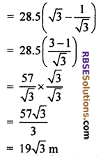 RBSE Solutions for Class 10 Maths Chapter 8 Height and Distance Miscellaneous Exercise 27