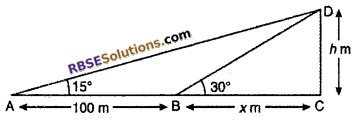 RBSE Solutions for Class 10 Maths Chapter 8 Height and Distance Miscellaneous Exercise 19