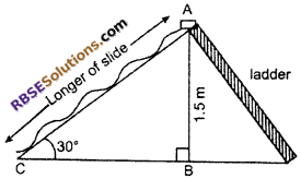 RBSE Solutions for Class 10 Maths Chapter 8 Height and Distance Additional Questions 66
