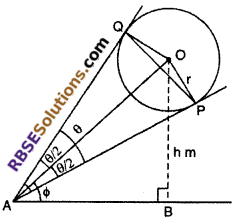 RBSE Solutions for Class 10 Maths Chapter 8 Height and Distance Additional Questions 37