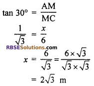 RBSE Solutions for Class 10 Maths Chapter 8 Height and Distance Additional Questions 11