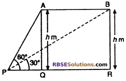 RBSE Solutions for Class 10 Maths Chapter 8 Height and Distance Additional Questions 73