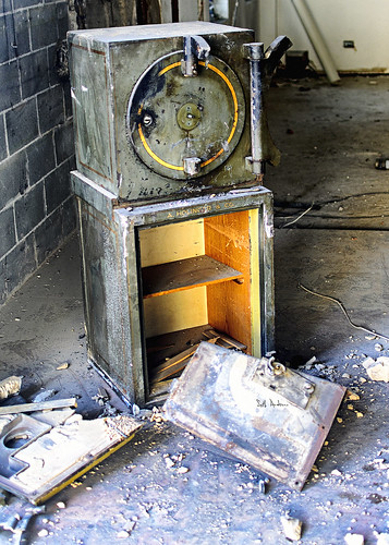 Remnants of A Holinger & Company Safe
