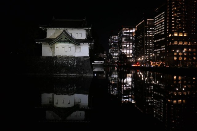 the Imperial Palace illumination