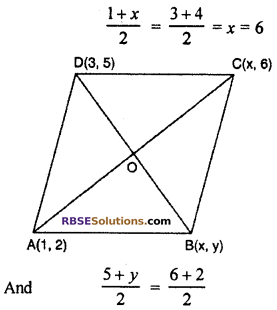 RBSE Solutions for Class 10 Maths Chapter 9 Co-ordinate Geometry Additional Questions 16