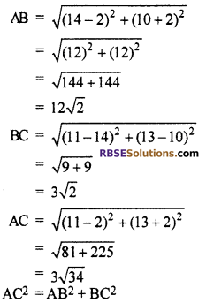 RBSE Solutions for Class 10 Maths Chapter 9 Co-ordinate Geometry Additional Questions 10