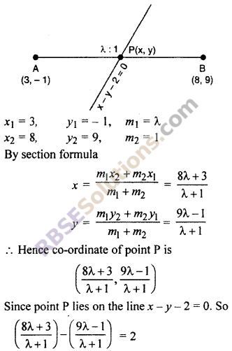 RBSE Solutions for Class 10 Maths Chapter 9 Co-ordinate Geometry Additional Questions 43