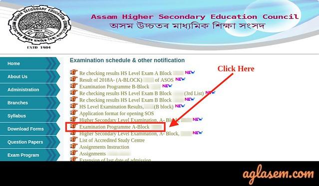 Assam State Open School Routine 2020