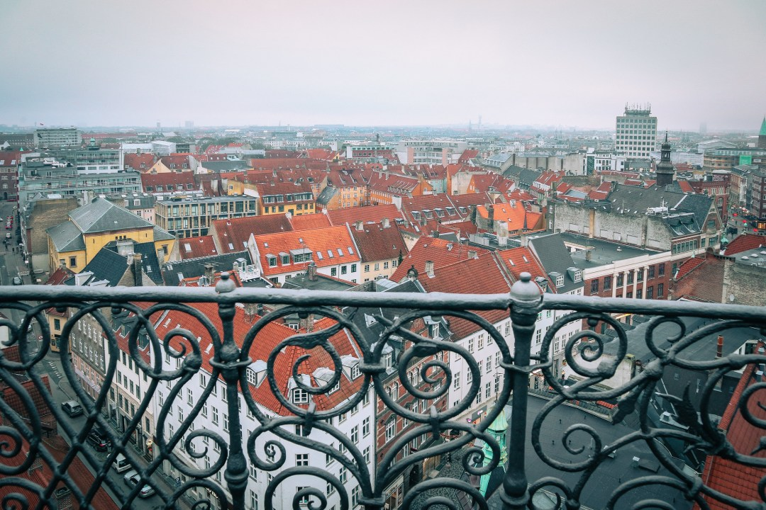 Panoramic view from Rundetårn, Copenhagen