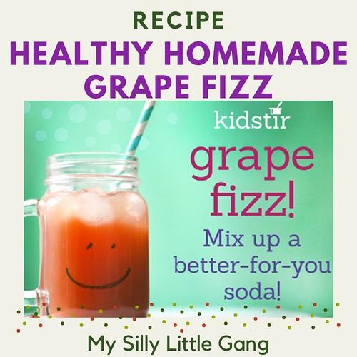Healthy Homemade Grape Fizz Recipe @Kidstir #MySillyLittleGang
