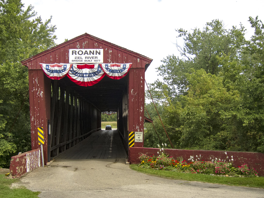 Covered bridge at Roann, Indiana